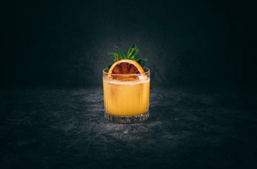Spicy Passion Fruit Margarita Cocktail